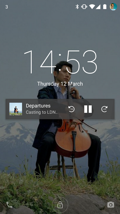 Quick access to controls directly from the lock screen