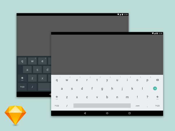 Android Tablet Keyboard Freebie.Sketch