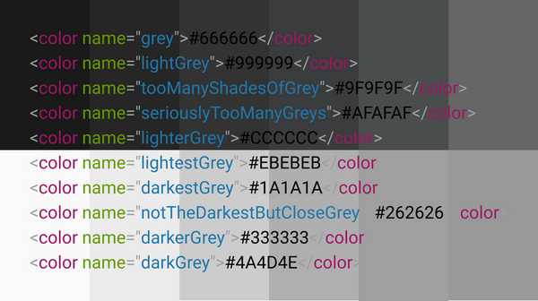 Fifty shades of #808080